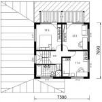 Mini 94 II, II korruse plaan
